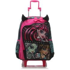 Mochila com Rodinhas Escolar Sestini Monster High 16Z G 64191