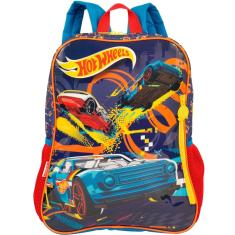 Mochila Escolar Sestini Hot Wheels