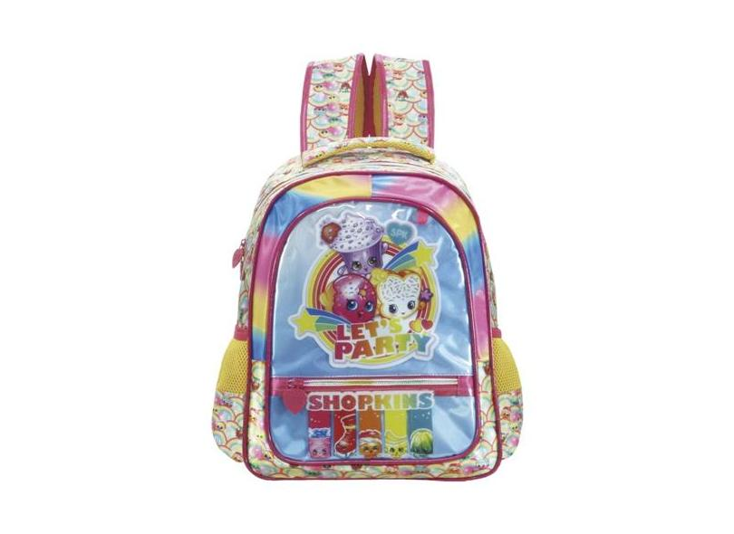 b77e18346 Mochila Escolar Xeryus Shopkins Rainbow Party