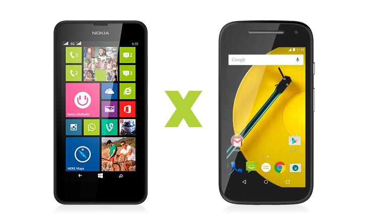 Moto E vs Lumia 630: Escolha um smartphone bom e barato.