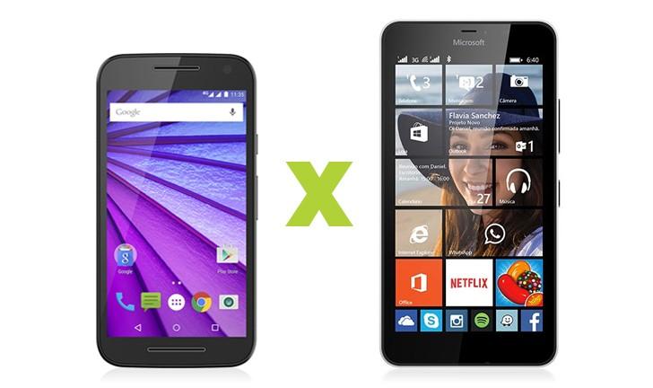 Moto G 3ª Geração vs Lumia 640 XL: qual o melhor celular dual chip para você?