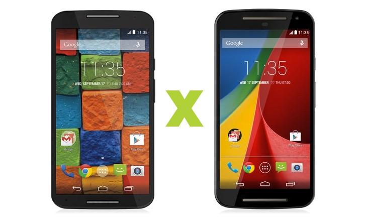 Moto X vs Moto G: qual o melhor Motorola de 2ª Geração?
