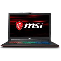 "Foto Notebook MSI GP73 Intel Core i7 8750H 17,3"" 16GB HD 1 TB GeForce GTX 1050 Ti SSD 128 GB"