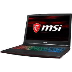 "Foto Notebook MSI GL73 Intel Core i7 8750H 17,3"" 16GB HD 1 TB SSD 500 GB GeForce GTX 1050 Ti"