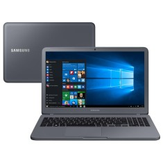 "Foto Notebook Samsung E30 Intel Core i3 7020U 15,6"" 4GB HD 1 TB Windows 10 7ª Geração"