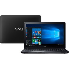 "Foto Notebook Vaio VJF154F11X-B0611 Intel Core i3 6006U 15,6"" 4GB HD 1 TB Windows 10 6ª Geração"