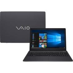 """Notebook Vaio Fit 15S Intel Core i7 7500U 7ª Geração 4GB de RAM HD 1 TB 15,6"""" Windows 10 VJF155F11X-B5411B"""