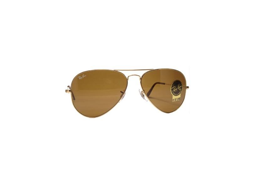56a9e6b25 Óculos de Sol Unissex Ray Ban Aviador RB3025