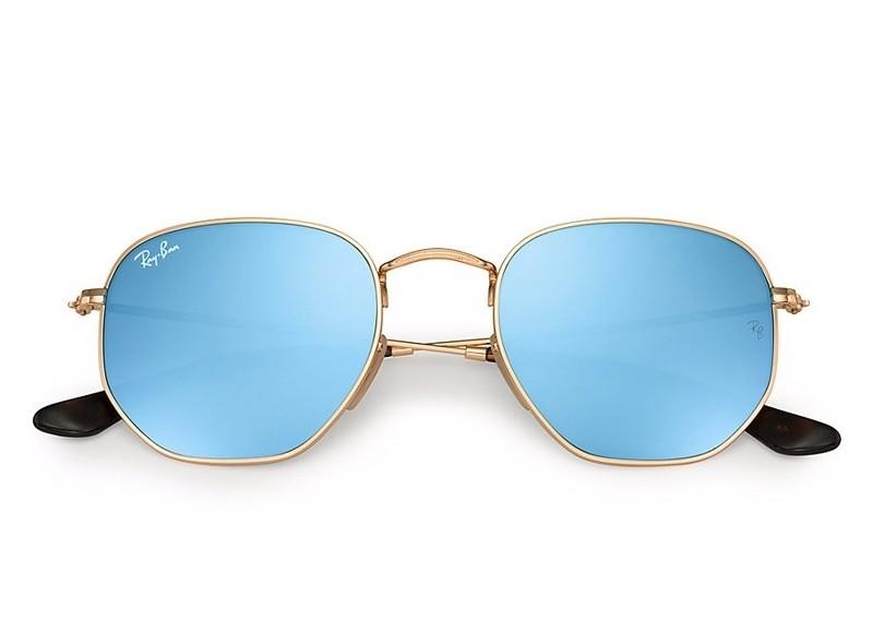60147b9980fc1 Óculos de Sol Unissex Ray Ban Hexagonal RB3548