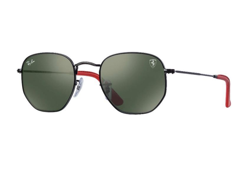 f803186f61 Óculos de Sol Unissex Ray Ban Hexagonal RB3548NM Escuderia Ferrari