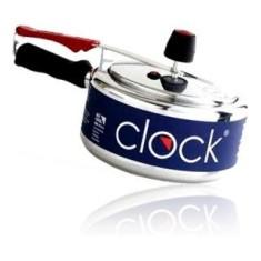 Panela de Pressão Clock 3 l 3 Litros Original Alumínio Polido