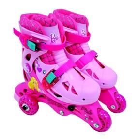 Patins 3 rodas Barbie Barão Toys 3 Rodas