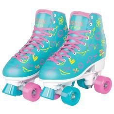Patins Tradicional 4 rodas Fenix Roller Skate Vinil
