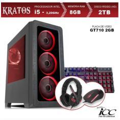 PC ICC Gamer Intel Core i5 3,20 GHz 8 GB HD 2 TB GeForce GT 710 Windows 10 Pro KT2583KW