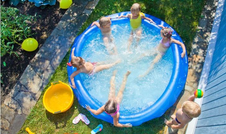 Piscina inflável grande: diversão pra toda a família!