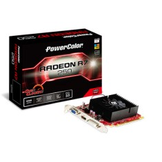Foto Placa de Video ATI Radeon R7 250 2 GB DDR3 128 Bits PowerColor AXR7 250 2GBK3-HV2E/OC
