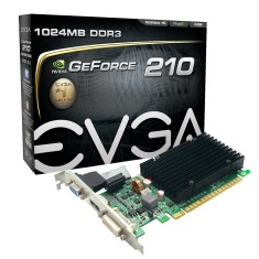Foto Placa de Video NVIDIA GeForce 210 1 GB DDR3 64 Bits EVGA 01G-P3-1313-KR