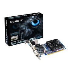 Foto Placa de Video NVIDIA GeForce 210 1 GB DDR3 64 Bits Gigabyte GV-N210D3-1GI (Rev. 6.0)
