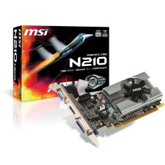 Foto Placa de Video NVIDIA GeForce 210 1 GB DDR3 64 Bits MSI N210-MD1G/D3