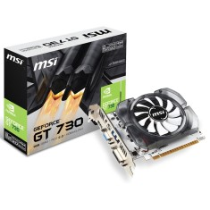 Placa de Video NVIDIA GeForce GT 730 2 GB DDR3 128 Bits MSI N730-2GD3V3