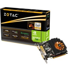 Foto Placa de Video NVIDIA GeForce GT 730 4 GB DDR3 128 Bits Zotac ZT-71109-10L