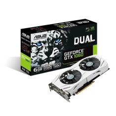 Foto Placa de Video NVIDIA GeForce GTX 1060 6 GB GDDR5 192 Bits Asus DUAL-GTX1060-6G