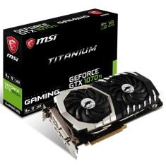 Placa de Video NVIDIA GeForce GTX 1070 Ti 8 GB GDDR5 256 Bits MSI GTX 1070 TI Titanium 8G