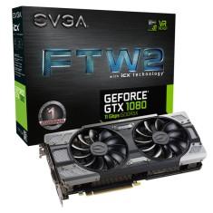 Placa de Video NVIDIA GeForce GTX 1080 8 GB GDDR5X 256 Bits EVGA 08G-P4-6686-KR