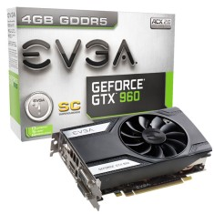 Foto Placa de Video NVIDIA GeForce GTX 960 4 GB GDDR5 128 Bits EVGA 04G-P4-1962-KR
