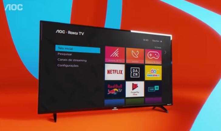 Roku TV, em parceria com a empresa AOC, chega ao Brasil com smart TVs de entrada