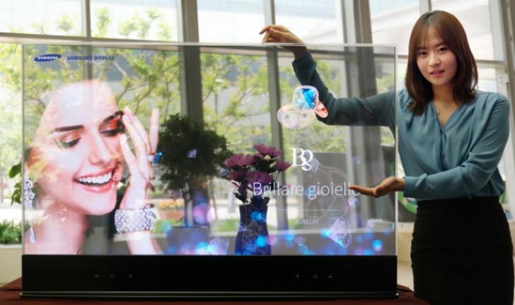 Samsung desenvolve TVs com telas OLED transparentes e espelhadas