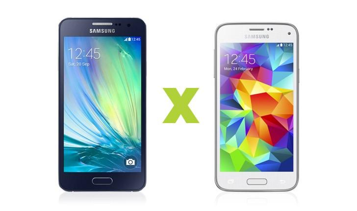 Samsung Galaxy A3 vs Galaxy S5 Mini: qual o melhor custo/benefício?