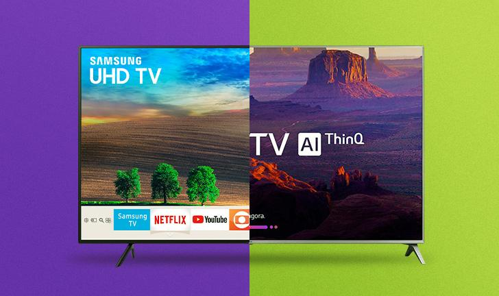 Samsung NU7100 vs LG UK6520: qual modelo de Smart TV vale a pena investir?