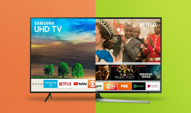 Samsung NU7100 vs Samsung MU6100: qual TV de alta qualidade comprar?