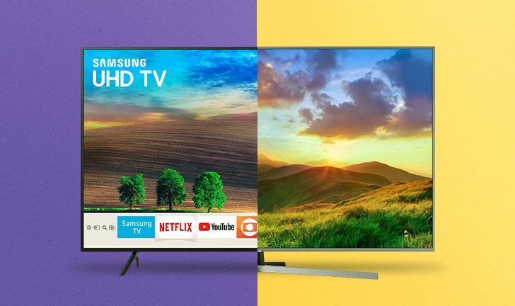 Samsung NU7100 vs Samsung NU7400: qual Smart TV comprar?