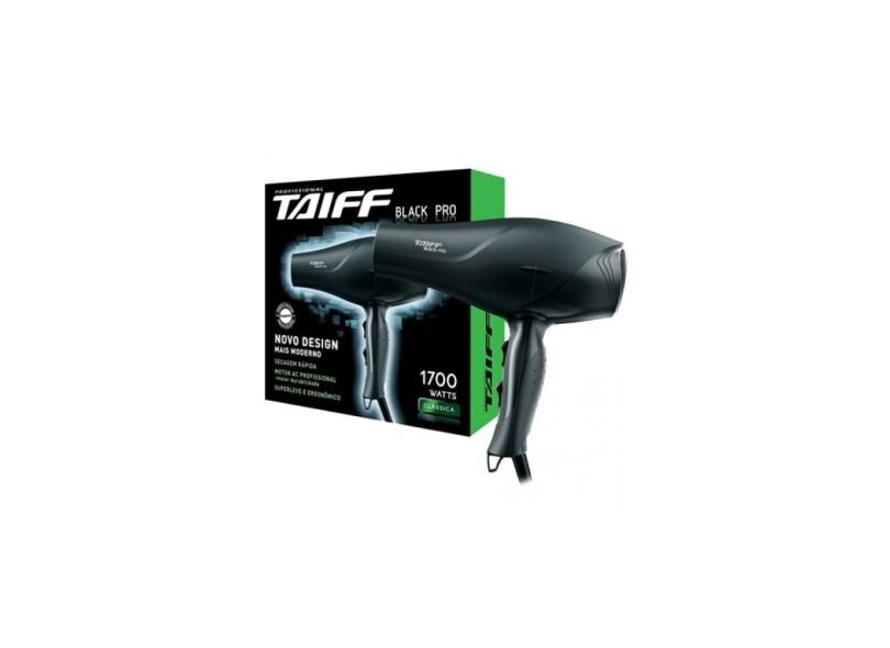 Secador de Cabelo Profissional 1700 Watts - Taiff Clássica Black Pro be182417b31f