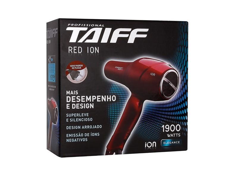 658e241ef Secador de Cabelo Profissional Emissão de Íons com Ar Frio 1900 Watts -  Taiff Elegance Red Íon
