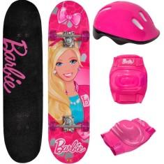 Skate Infantil - Fun Barbie 7619-1