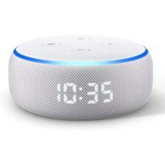 Smart Speaker Amazon Echo Dot com relógio Alexa