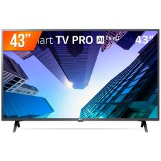 "Smart TV LED 43"" LG ThinQ AI Full HD 43LM631C0SB 3 HDMI"