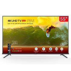 """Smart TV LED 55"""" TCL 4K HDR 55P8M 3 HDMI"""