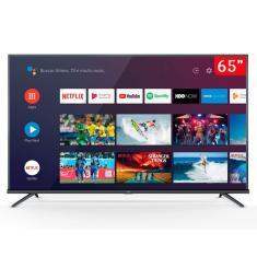 """Smart TV LED 65"""" TCL 4K HDR 65P8M 3 HDMI"""