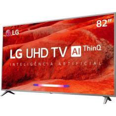 """Smart TV LED 82"""" LG ThinQ AI 4K HDR 82UM7570PSB"""