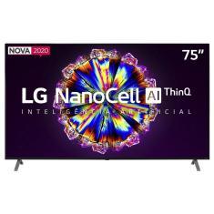 """Smart TV Nano Cristal 75"""" LG ThinQ AI 4K HDR 75NANO90SNA"""