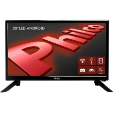 "Foto Smart TV LED 28"" Philco PH28N91DSGWA 2 HDMI LAN (Rede)"