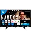 "Foto Smart TV TV LED 32"" AOC Série 5000 Netflix LE32S5970 3 HDMI"