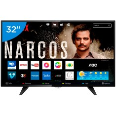 "Smart TV LED 32"" AOC Série 5000 LE32S5970 3 HDMI"