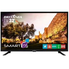 "Foto Smart TV LED 32"" Britânia BTV32G51SN 2 HDMI LAN (Rede)"