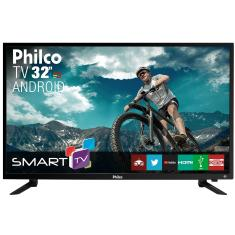 "Foto Smart TV LED 32"" Philco PTV32N87SA 2 HDMI USB LAN (Rede)"