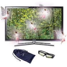 "Foto Smart TV LED 3D 46"" Samsung Série 7 Full HD UN46C7000"